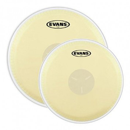 Evans Tri-Center Bongo Drumhead Pack 7 1/4 and 8 5/8 Inches