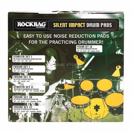 RockBag RB 22196 B Silent Impact Fusion 20° Pad Set