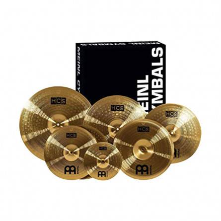 Meinl HCS141620+18CCymbal Set with 14 Inches Hi Hat pair, 16 Inches crash, 20 Inches Ride with 18C