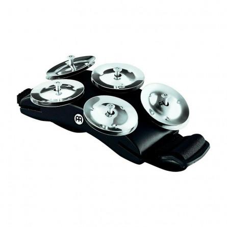 MeinlCFT5-BKCajon Foot Tambourine with Steel Jingles Black