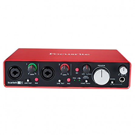 Focusrite Scarlett 2i4 (2nd Gen) USB Audio Interface with Software(Protools/Ableton)