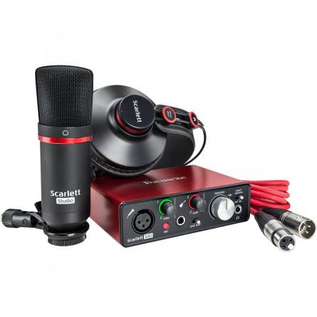 Focusrite Scarlett SOLO Studio (2nd Gen) USB Audio Interface with Software(Protools/Ableton)