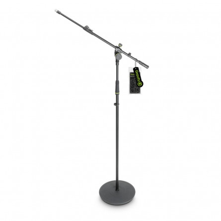 Gravity MS 2322 B Microphone Stand with Round Base and 2-Point Adjustment Telescoping Boom