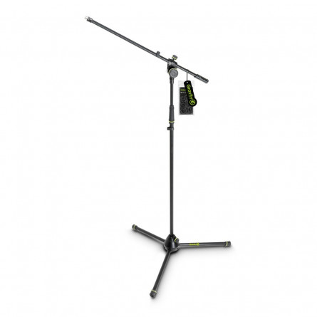 Gravity MS 4321 B Microphone Stand with Folding Tripod Base and 2-Point Adjustment Boom