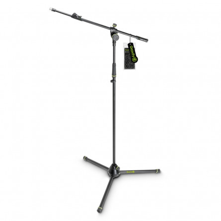 Gravity MS 4322 B Microphone Stand with Folding Tripod Base and 2-Point Adjustment Telescoping Boom