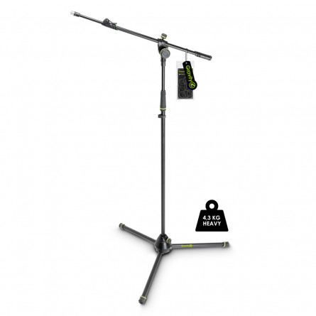 Gravity MS 4322 HDB Heavy Duty Microphone Stand Tripod 2-Point Telescopic Boom