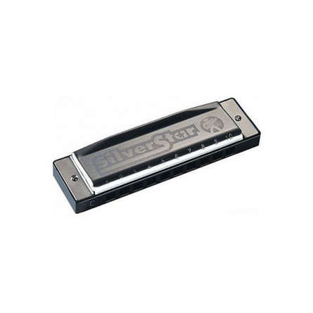 Hohner M50406S Harmonica Silver Star Key F