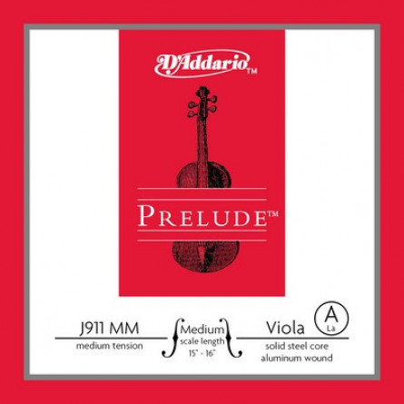 D'Addario J911 MM Viola Strings Prelude Medium  A