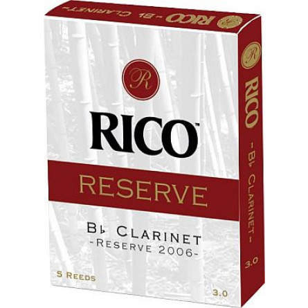 Rico  RCR0530 Reserve Bb Clarinet Reed 5 Pcs Pack 3.0