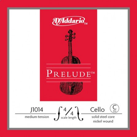 D'Addario J1014 4 4M Cello Strings Prelude  C Medium