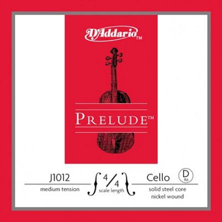 D'Addario J1012 4 4M Cello Strings Prelude  D Medium