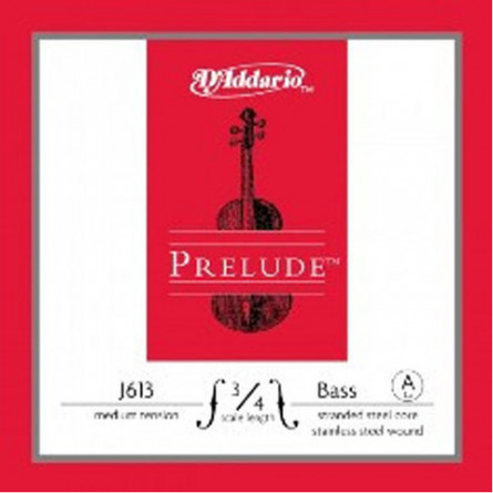 D'Addario J613 3 4M Double Bass Strings Prelude Medium  A