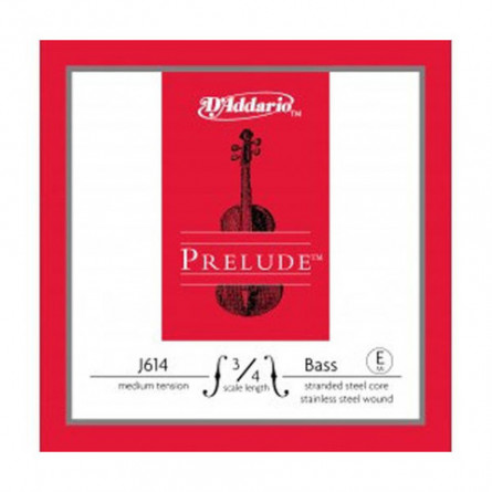 D'Addario E J614 3 4M Double Bass Strings Prelude Medium