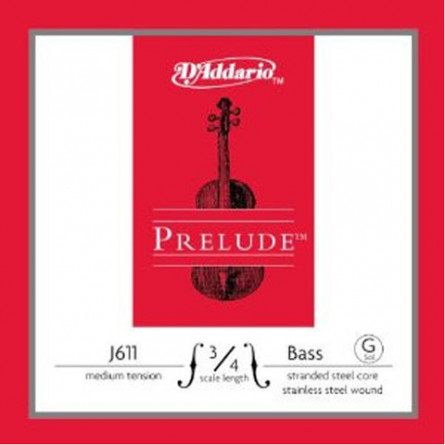 D'Addario G J611 3 4M Double Bass Strings Prelude Medium