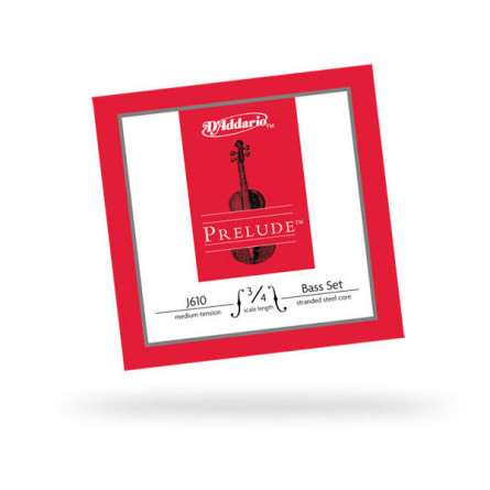 D'Addario Set J610 3 4M Double Bass Strings  Prelude  Medium