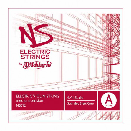 D'Addario NS312 Violin Strings NS Electric A