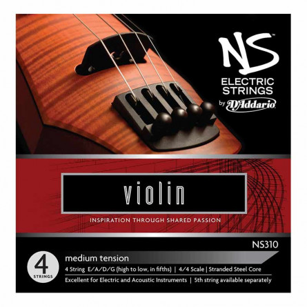 D'Addario Violin String NS Electric Set
