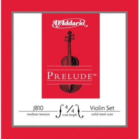 D Addario J810 4 4M Violin Strings Prelude Medium  Set