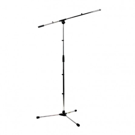 RockStand RS 20701 NK Microphone Stand Standard Tri-pod with Boom and Cable Clip Nickel