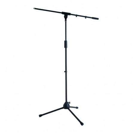 RockStand RS 20710 B Microphone Stand Solid Base Tri-pod with Boom and Cable Clips Black