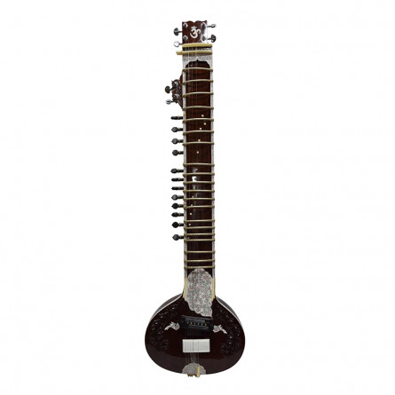 Mirajakars Flat Electric Sitar with Fiber Case
