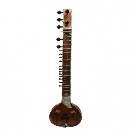 Mirajkars One Piece Gandhar Pancham Sitar, Pro, with Cloth Cover