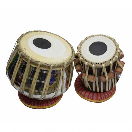 Khayal Tabla, Brass Dagga, with Accessories