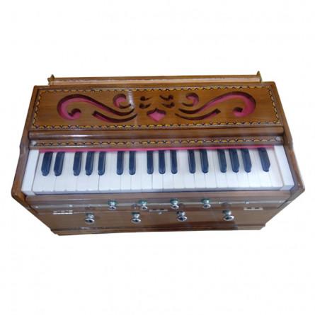 Kharj Nar Harmonium, 39 keys, Double Reeds, Teakwood Body, with bag