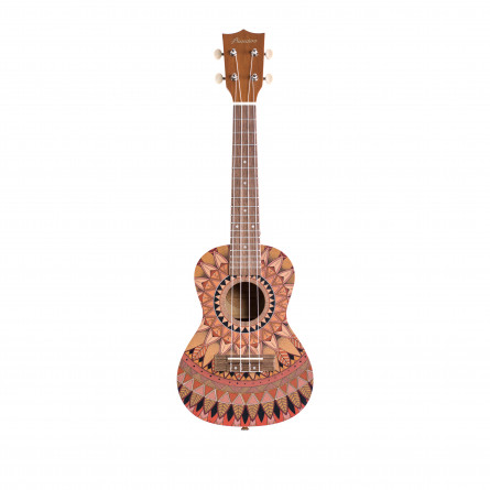 BAMBOO Summer Concert Ukulele Mandala Series Acoustic | For Beginners and Professionals | Sapele & Walnut | With Gig Bag (New Generation)