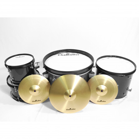 Chancellor JBJ1049A Drum Set Junior 5165C 4 Pcs with Cymbals Black