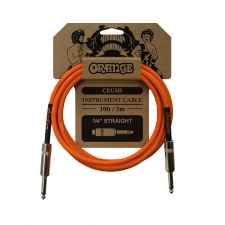 Orange CA034 Crush Instrument Cable Straight 10 Feet