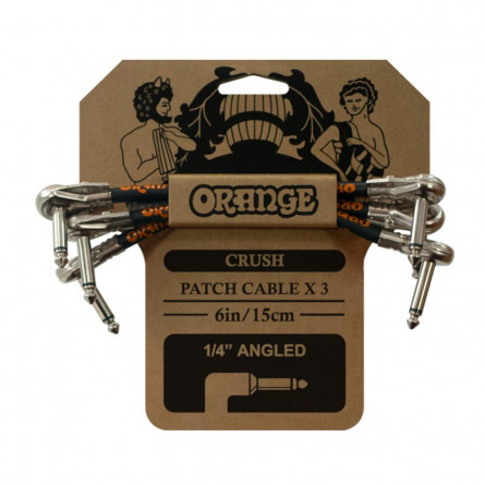 Orange CA038 Crush 6 Inches Patch Cable 3 Pack