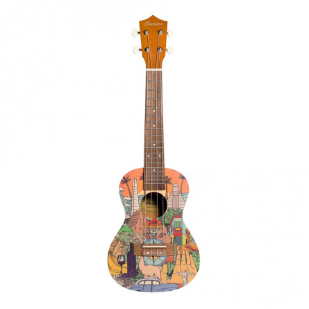 BAMBOO Latin Concert Ukulele Culture Series Acoustic   For Beginners and Professionals   Sapele & Walnut   With Gig Bag (New Generation)