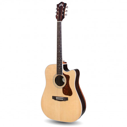 GuildD-260CE Deluxe Semi Acoustic Guitar Spruce Top Striped Ebony Back & Sides