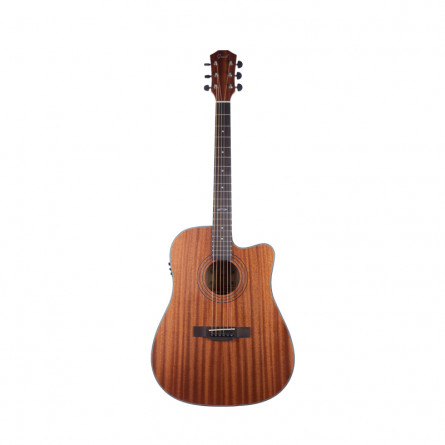 Grail D310CE Semi Acoustic Guitar Cutaway All Sapele with Tuner and EQ
