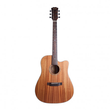 Grail AG-SD410 Acoustic Guitar Cutaway with Solid Mahogany Top, Mahogany B and S
