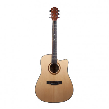 Grail AG-D210C Acoustic Guitar Cutaway Spruce Top Sapele B and S