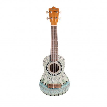 BAMBOO Jade Concert Ukulele Mandala Series Acoustic | For Beginners and Professionals | Sapele & Walnut | With Gig Bag (New Generation)