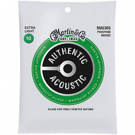 Martin MA530S Marquis Silked Acoustic Guitar Strings Set Extra Light 10-47
