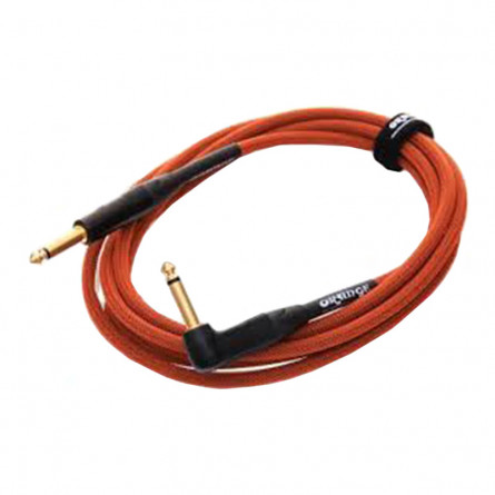 Orange ANIN OR10 Angled Instrument Cable 10 Feet