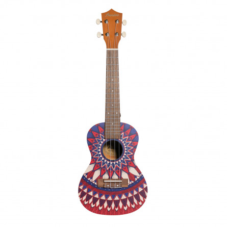 BAMBOO Passion Concert Ukulele Mandala Series Acoustic | For Beginners and Professionals | Sapele & Walnut | With Gig Bag (New Generation)