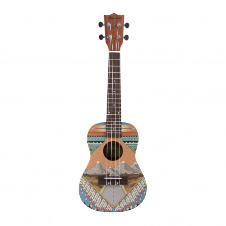 BAMBOO Patagonia Concert Ukulele Acoustic Culture Series | For Beginners and Professionals | Sapele & Walnut wood | With Gig Bag (New Generation)