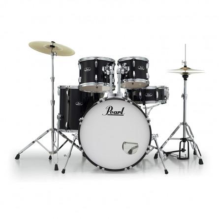 Pearl RS525SC/C BK (31) 5 Pcs Drum Set Roadshow W/Stands & Cymbals Jet Black