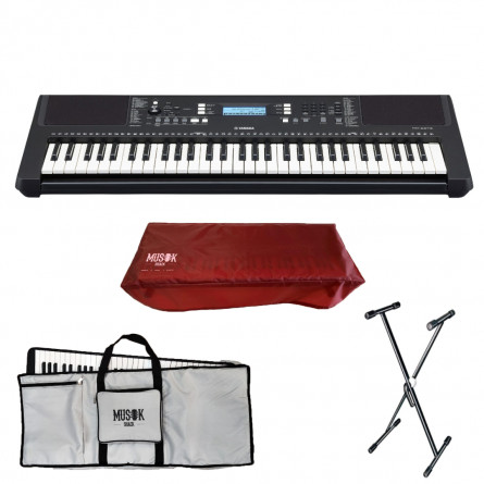 Yamaha PSR E273 Portable Keyboard wih Bag, Stand and Dust Cover