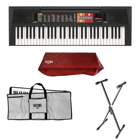 Yamaha PSR-F51 Portable Keyboard with Bag, Stand and Dust Cover