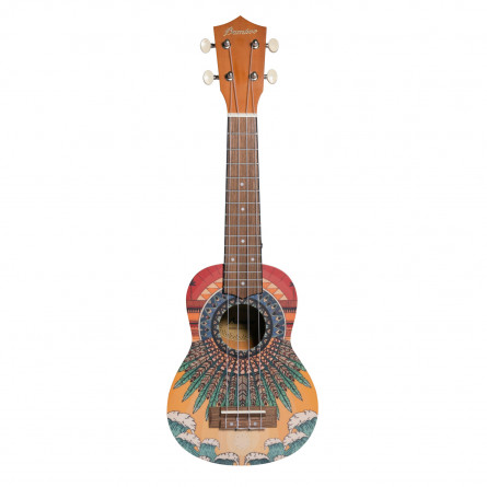 BAMBOO Sunshine Concert Ukulele Nature Series Acoustic | For Beginners and Professionals | Sapele & Walnut | With Gig Bag (New Generation)