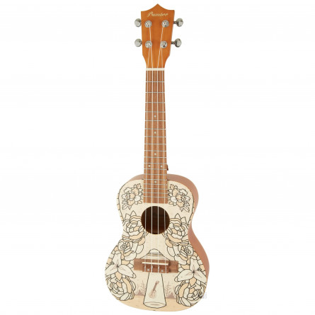 BAMBOO Terra Concert Ukulele Dreams Series Acoustic   For Beginners and Professionals   Sapele & Walnut   With Gig Bag (New Generation)