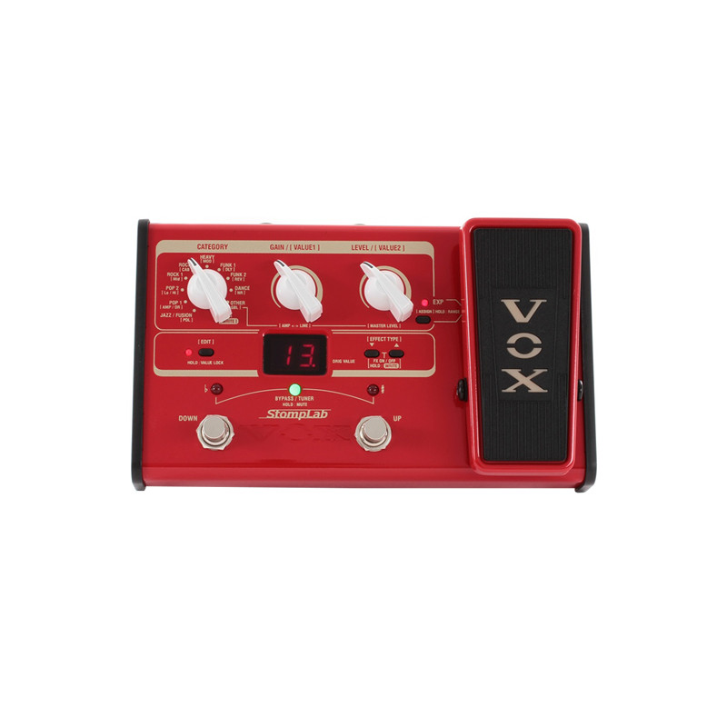 VOX Stomplab IIB Bass Guitar Multi-Effects Pedal w//Expression Pedal 2B