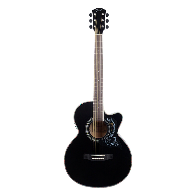 Buy Grail Ag A190ce B Semi Acoustic Guitar Cutaway Black With Tuner And Eq Online In India Best 6 Strings Acoustic Guitars In India