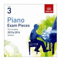 AB Piano Exam Pieces 2015 to 2016 Grade 3